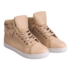 High-top Sneakers R-216 Beige 2