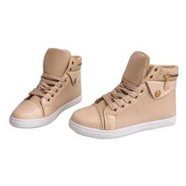 High-top Sneakers R-216 Beige 1