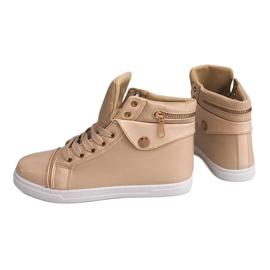High-top Sneakers R-216 Beige 3