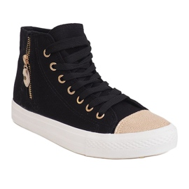 High Slider Hit Sneakers Sneakers H-11 Black white 2
