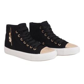High Slider Hit Sneakers Sneakers H-11 Black white 3