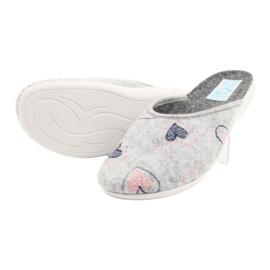 Gray Felt Slippers hearts Adanex 19255 gray pink grey 3