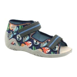 Befado yellow children's shoes 350P013 blue grey multicolored 1