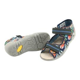 Befado yellow children's shoes 350P013 blue grey multicolored 4