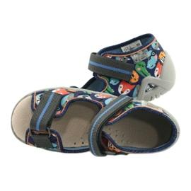 Befado yellow children's shoes 350P013 blue grey multicolored 5