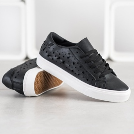 J. Star Low Sneakers With Stars black 1