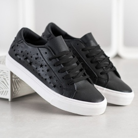 J. Star Low Sneakers With Stars black 4