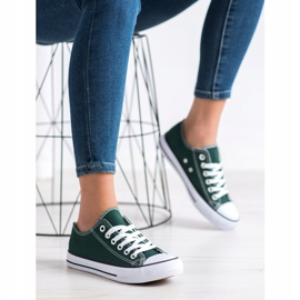 SDS Textile Sneakers white green 2