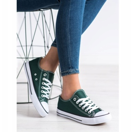 SDS Textile Sneakers white green 3