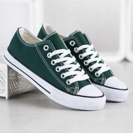SDS Textile Sneakers white green 1