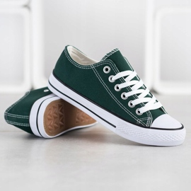 SDS Textile Sneakers white green 4