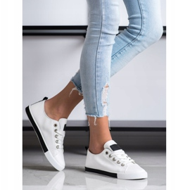 SHELOVET Sneakers With Black Inserts white 4