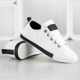SHELOVET Sneakers With Black Inserts white 1