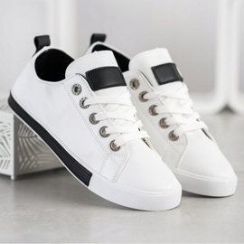 SHELOVET Sneakers With Black Inserts white 2