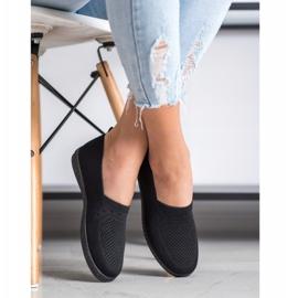 Via Giulia  Openwork Slip On Sneakers black 3
