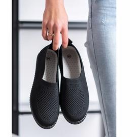 Via Giulia  Openwork Slip On Sneakers black 2