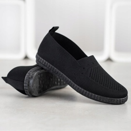 Via Giulia  Openwork Slip On Sneakers black 4