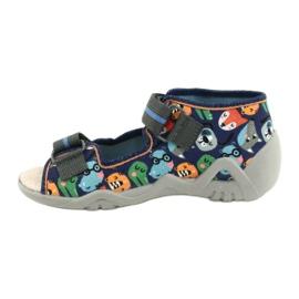 Befado yellow children's shoes 350P013 navy blue orange grey 2