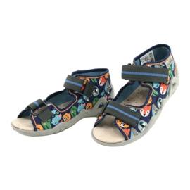 Befado yellow children's shoes 350P013 navy blue orange grey 3