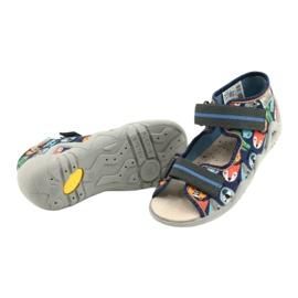 Befado yellow children's shoes 350P013 navy blue orange grey 4