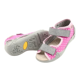 Befado yellow children's shoes 342P024 pink grey 4