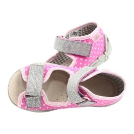 Befado yellow children's shoes 342P024 pink grey 5