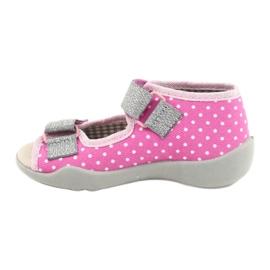 Befado yellow children's shoes 342P024 pink grey 2