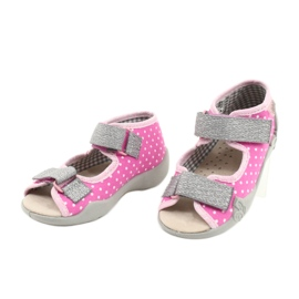 Befado yellow children's shoes 342P024 pink grey 3