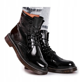 Black patent leather boots Evento 20DZ23-3216 Marita 2