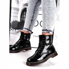 Black patent leather boots Evento 20DZ23-3216 Marita 1