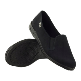 Black slip-on slippers Befado 001M060 3