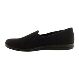 Black slip-on slippers Befado 001M060 2