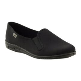 Black slip-on slippers Befado 001M060 1