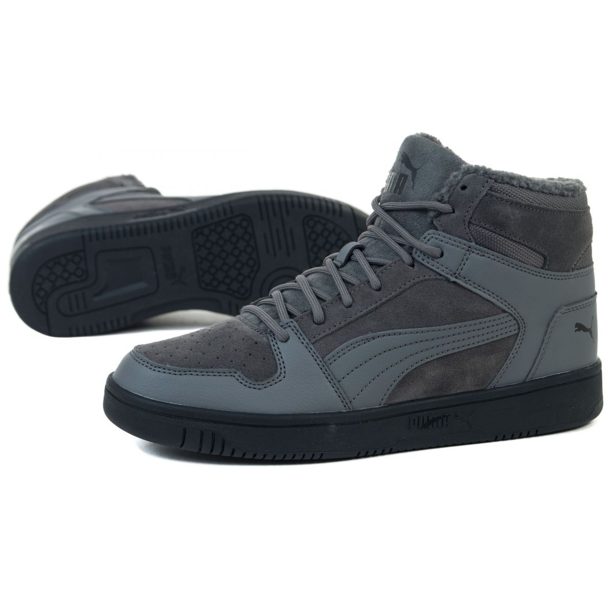 Puma Rebound Layup Sd Fur M 369831 02 grey - KeeShoes
