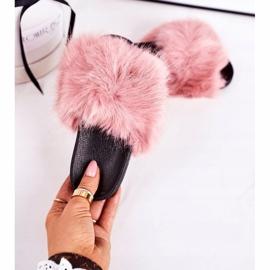 Children's Pink Fashionista Fur Slippers 2