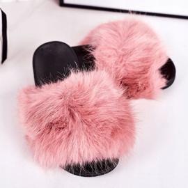 Children's Pink Fashionista Fur Slippers 1