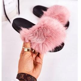Children's Pink Fashionista Fur Slippers 4