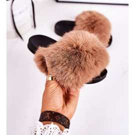 Children's Slippers With Fur Light Brown Fashionista 2