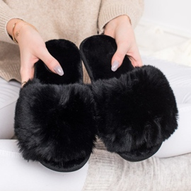Bona Stylish Black Slippers 4