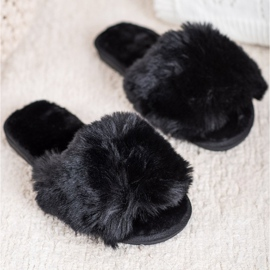 Bona Stylish Black Slippers 1