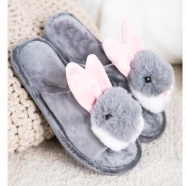 Bona Bunny slippers grey 1