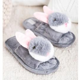 Bona Bunny slippers grey 3