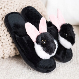Bona Bunny slippers black 1