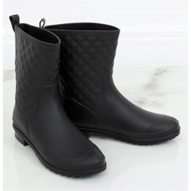 Black DC06 Black quilted women's galoshes 1