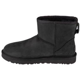 Boots Ugg W Classic Mini Leather W 1016558-BLK black 1