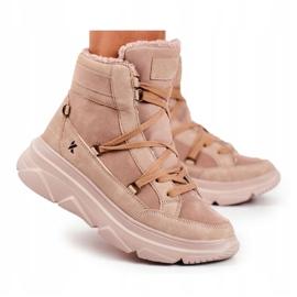 Kylie Crazy Women's Sneakers Beige Snow boots Missy 9