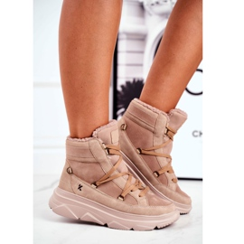 Kylie Crazy Women's Sneakers Beige Snow boots Missy 2