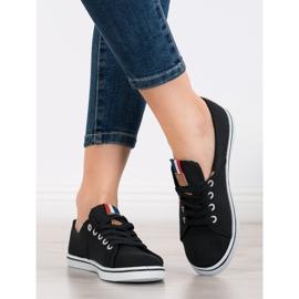 SHELOVET Black Sneakers 1