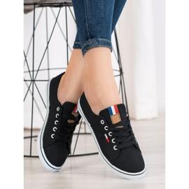 SHELOVET Black Sneakers 3