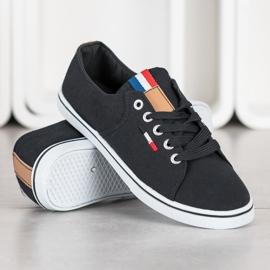 SHELOVET Black Sneakers 2